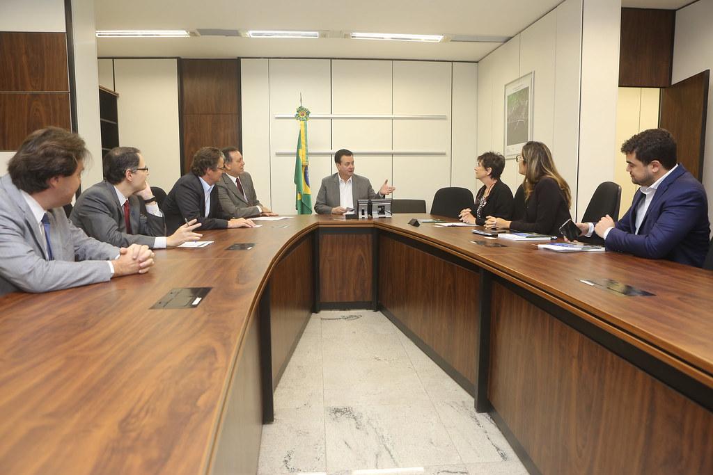 Reunião com a chefe da Divisão de Políticas para a Economia Digital da OCDE, Anne Carblanc. Fotos: Ricardo Fonseca