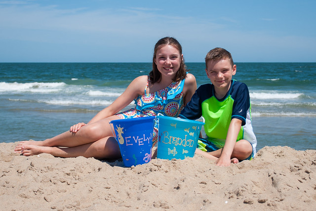 Evy & Brandon at the Beach
