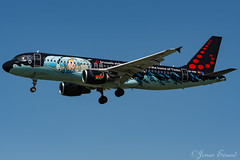 Brussels Airlines tintin/ A320 / OO-SNB