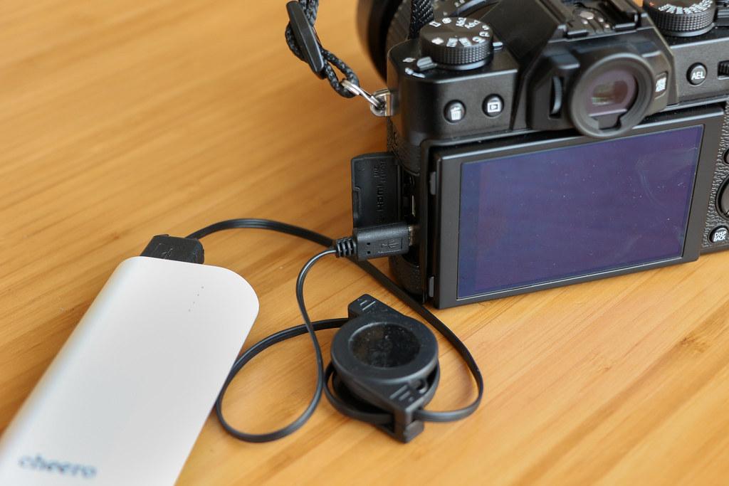 X-T20をモバイルバッテリーから充電