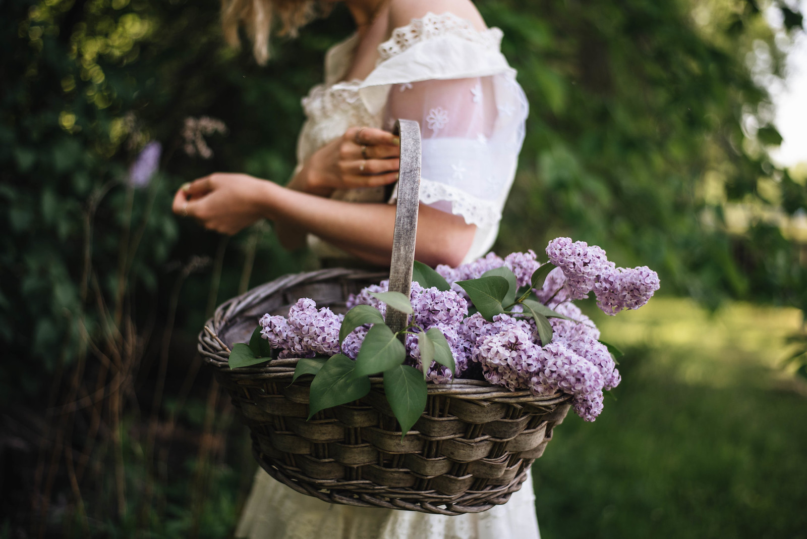 Lilacs and White Dresses on juliettelaura.blogspot.com