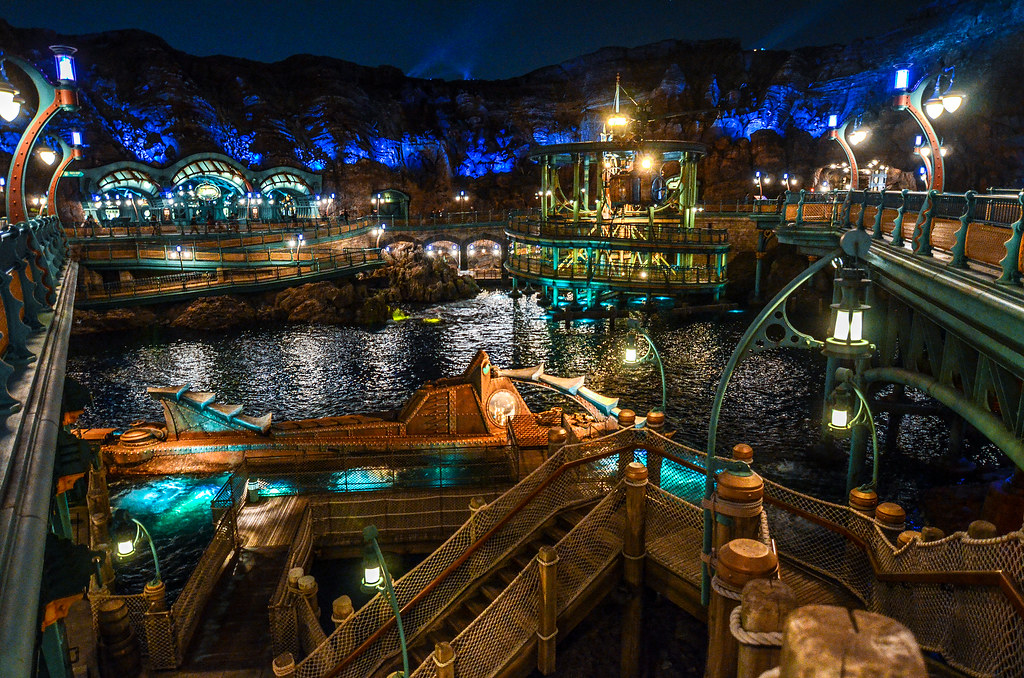 Mysterious Island submarine night wide TDS