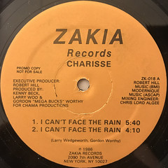 CHARISSE:I CAN'T STAND THE RAIN(LABEL SIDE-A)