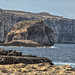 Fungus Rock (really) and the west coast of Gozo