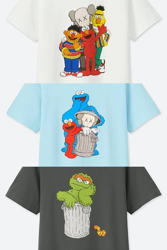 經典角色的潮流新演繹!! KAWS ×《芝麻街》× UNIQLO「UT印花T恤」將於6月29日上市!