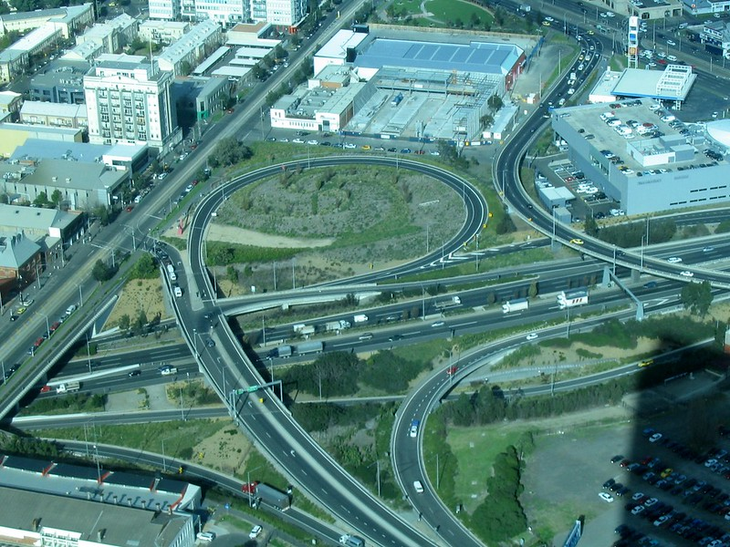 Westgate Freeway viewed from the Eureka Skydeck, June 2008