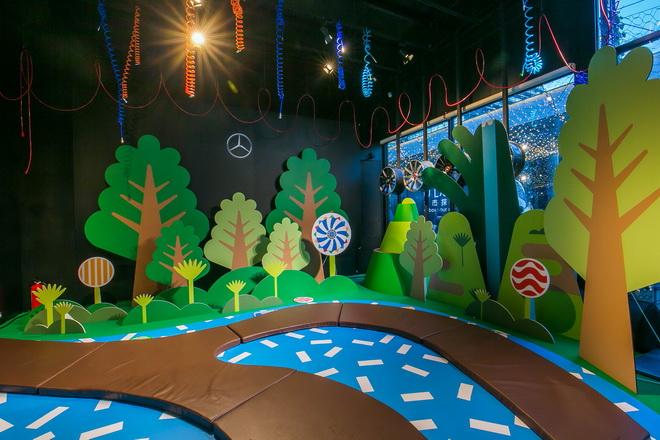 遊戲中,小朋友和家長們將透過特製的尋寶儀器,讚森林中穿梭蒐集逃跑的「星奇怪獸」