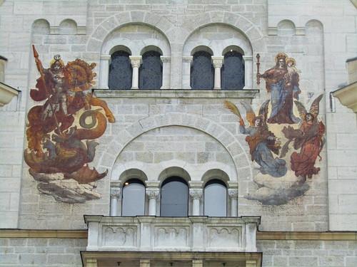 paintings on wall of Neuschwanstein Castle
