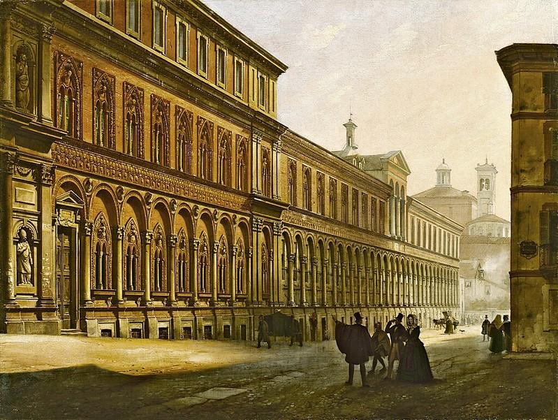 Luigi Premazzi - Veduta dell'Ospedale Maggiore di Milano, 1842