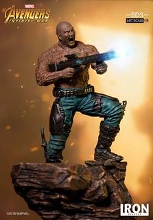 聽說你學會了隱身術啊XD~ Iron Studios Battle Diorama 系列《復仇者聯盟3:無限之戰》德克斯 Drax 1/10 比例決鬥場景雕像作品