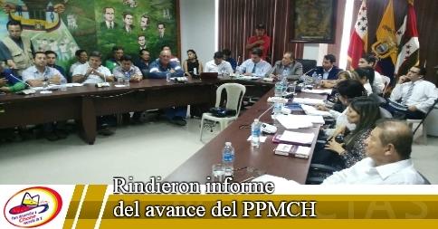 Rindieron informe del avance del PPMCH