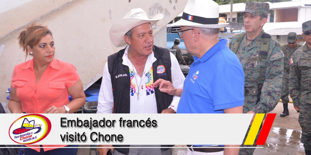 Embajador francés visitó Chone