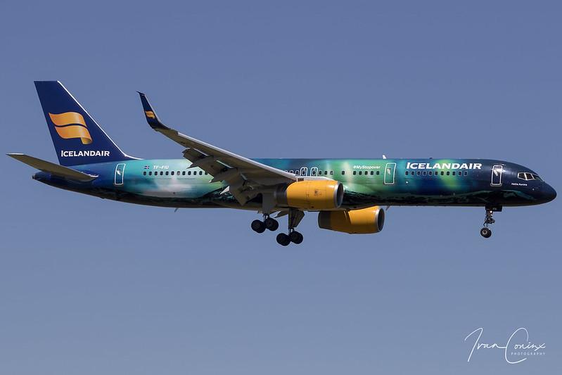 Boeing 757-25C – Icelandair – TF-FIU – Brussels Airport (BRU EBBR) – 2018 07 02 – Landing RWY 07L – 02 – Copyright © 2018 Ivan Coninx