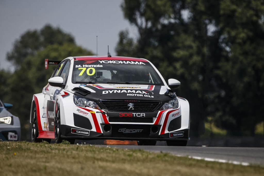 70 HOMOLA Mato, (svk), Peugeot 308 TCR team DG Sport Competition, action during the 2018 FIA WTCR World Touring Car cup race of Slovakia at Slovakia Ring, from july 13 to 15 - Photo François Flamand / DPPI.