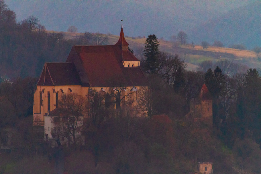 Hilltop with fortified church