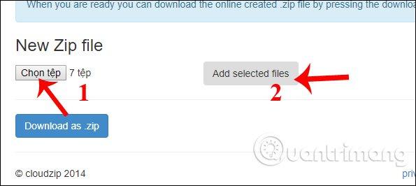 Giải nén file Zip, RAR,    trực tuyến không cần phần mềm