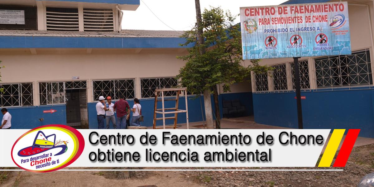 Centro de Faenamiento de Chone obtiene licencia ambiental