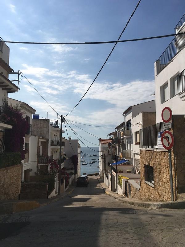 tuesday, view, carrer de sant roc, calella de palafrugell