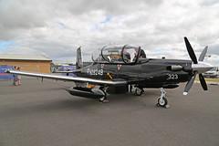 N2824B (ZM323) Beechcraft T-6C Texan II Royal Air Force RAF Fairford R