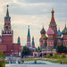 view of the Spasskaya tower of the Moscow Kremlin and St. Basil's Cathedral by *ALLA*