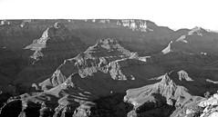 BW Sunset at Grand Canyon, Arizona.