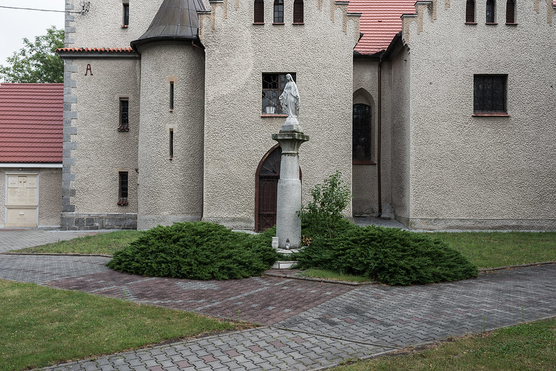 Denkmal 1740-1763, dismantled and rebuilt into a chapel, Borów / Markt-Bohrau, 11.07.2018