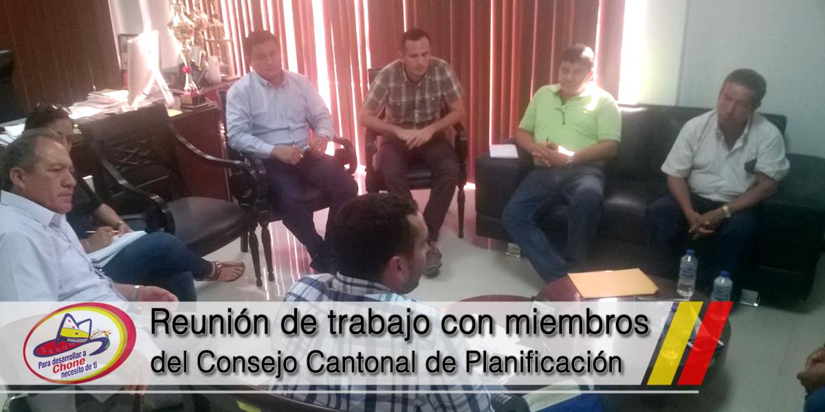 Reunión de trabajo con miembros del Consejo Cantonal de Planificación