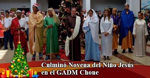 Culminó Novena del Niño Jesús en el GADM Chone