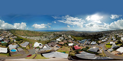 Paloma Place on Maunalani Heights from 165 feet - an aerial 360° Equirectangular VR