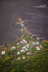 Kapoho Bay Hawaii - Lava Destroyed Homes
