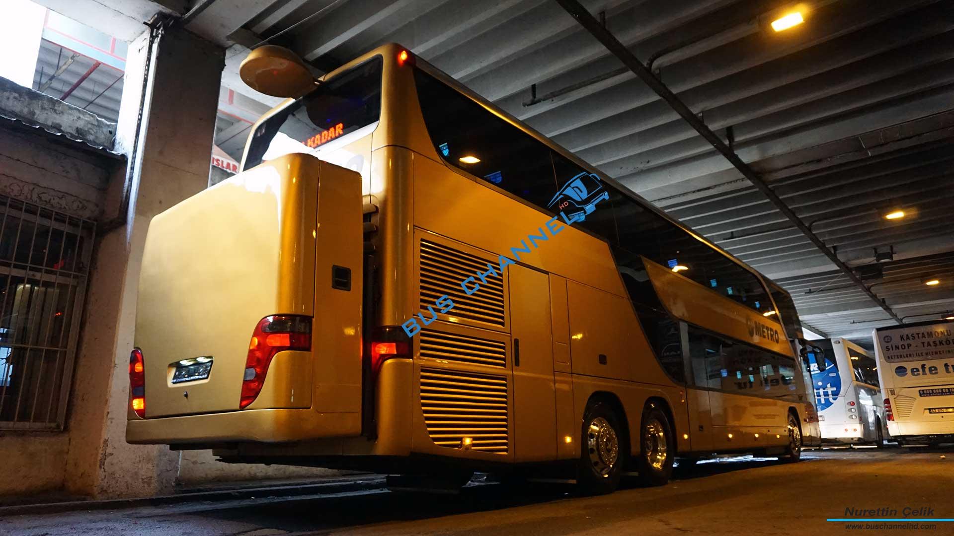 Setra 431 DT Metro Turizm Çift Katlı Otobüs İç Çekimleri