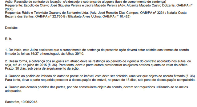 Aluguel - TV e rádio Guarany