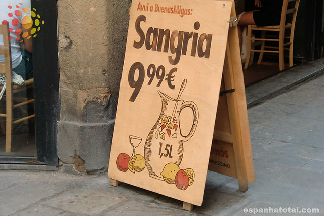 bebidas típicas de Madri: sangría
