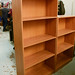 Oak tall open bookcase E120