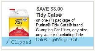 picture relating to Tidy Cat Litter Coupons Printable named significant well worth Tidy Cats cat muddle discount codes: Preserve $7.00 +