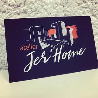 Cartes de visite avec vernis sélectif #atelierjerhome