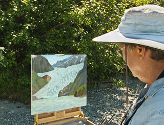 Susi's Mendenhall glacier painting
