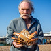 Dave with captured spider crab by lomokev