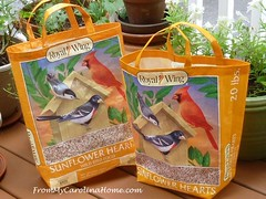 Birdseed Bag Totes at From My Carolina Home