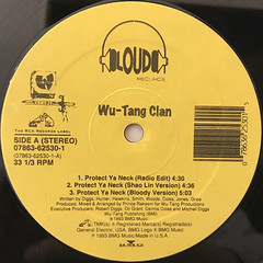 WU-TANG CLAN:PROTECT YA NECK(LABEL SIDE-A)