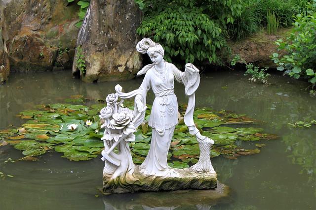 statue in lake