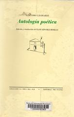 Giacomo Leopardi, Antología poética