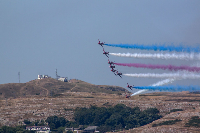 Red Arrows and Great, Canon EOS 500D, Canon EF 75-300mm f/4-5.6