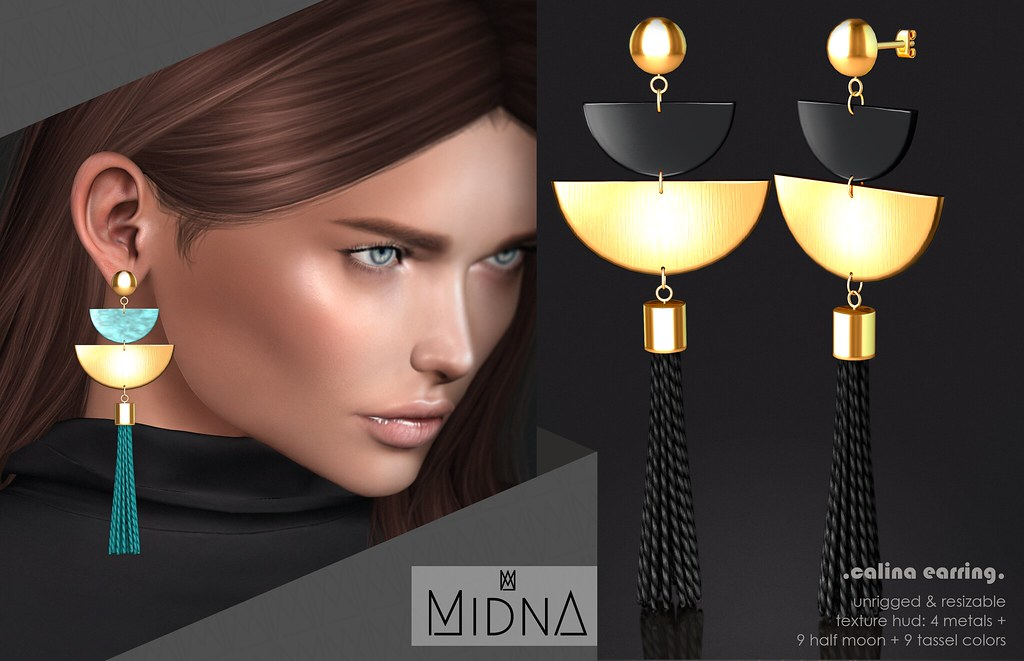 Midna - Calina Earrings - TeleportHub.com Live!