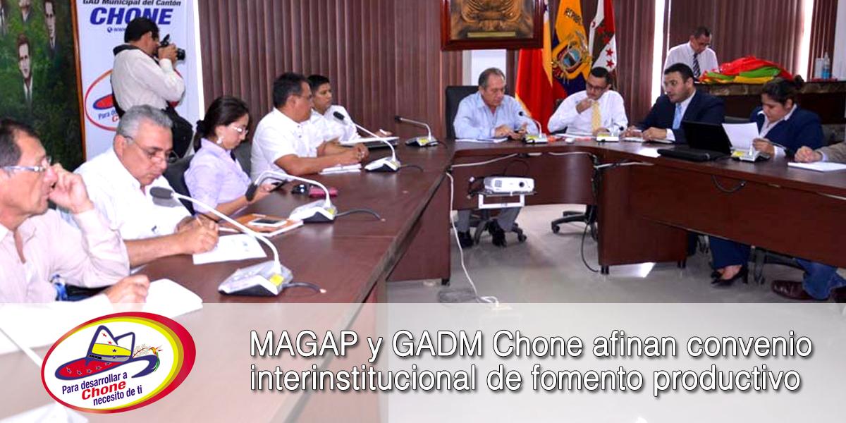 MAGAP y GADM Chone afinan convenio interinstitucional de fomento productivo