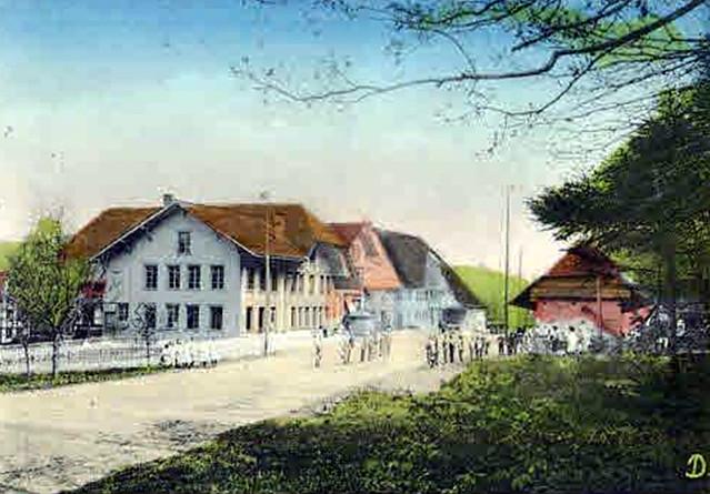 1911 Ortsbild Bützerg mit ganz altem Schulhaus-002