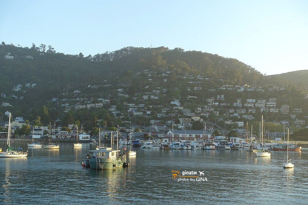 【2020舊金山景點】漁人碼頭|加州落日遊船之旅|Red & White Fleet 看夕陽去(附船艙飲料及餐點)城市公園,市區景超推! @GINA LIN