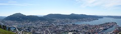 Panorama of Bergen, view from Fløien