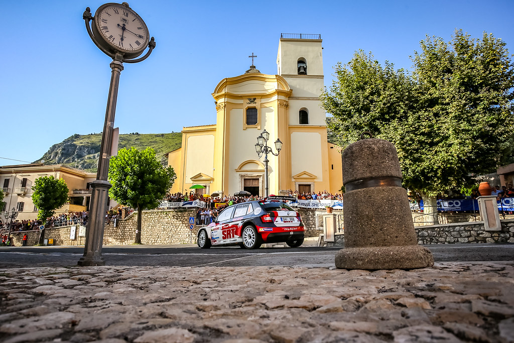 04 Nikolay Gryazin (LVA), Yaroslav Fedorov (RUS), Sport Racing Technologies, SKODA FABIA R5, action during the 2018 European Rally Championship ERC Rally di Roma Capitale,  from july 20 to 22 , at Fiuggi, Italia - Photo Thomas Fenetre / DPPI