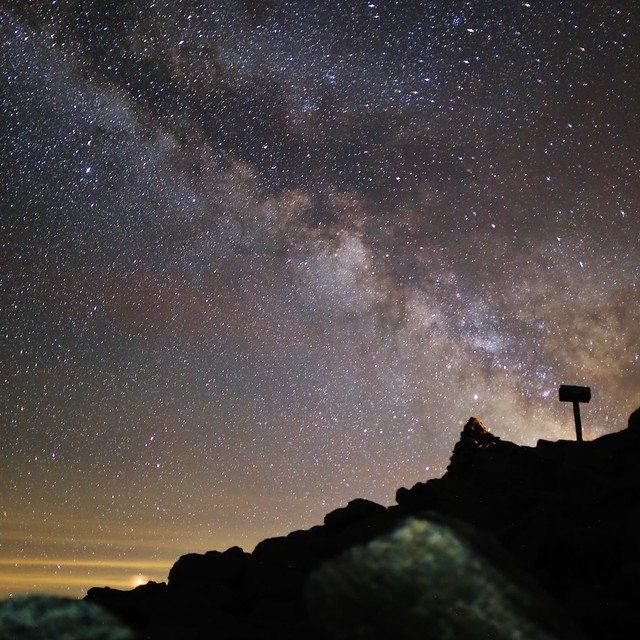 Milky Way over the, Canon EOS 6D, Canon EF 24mm f/1.4L II